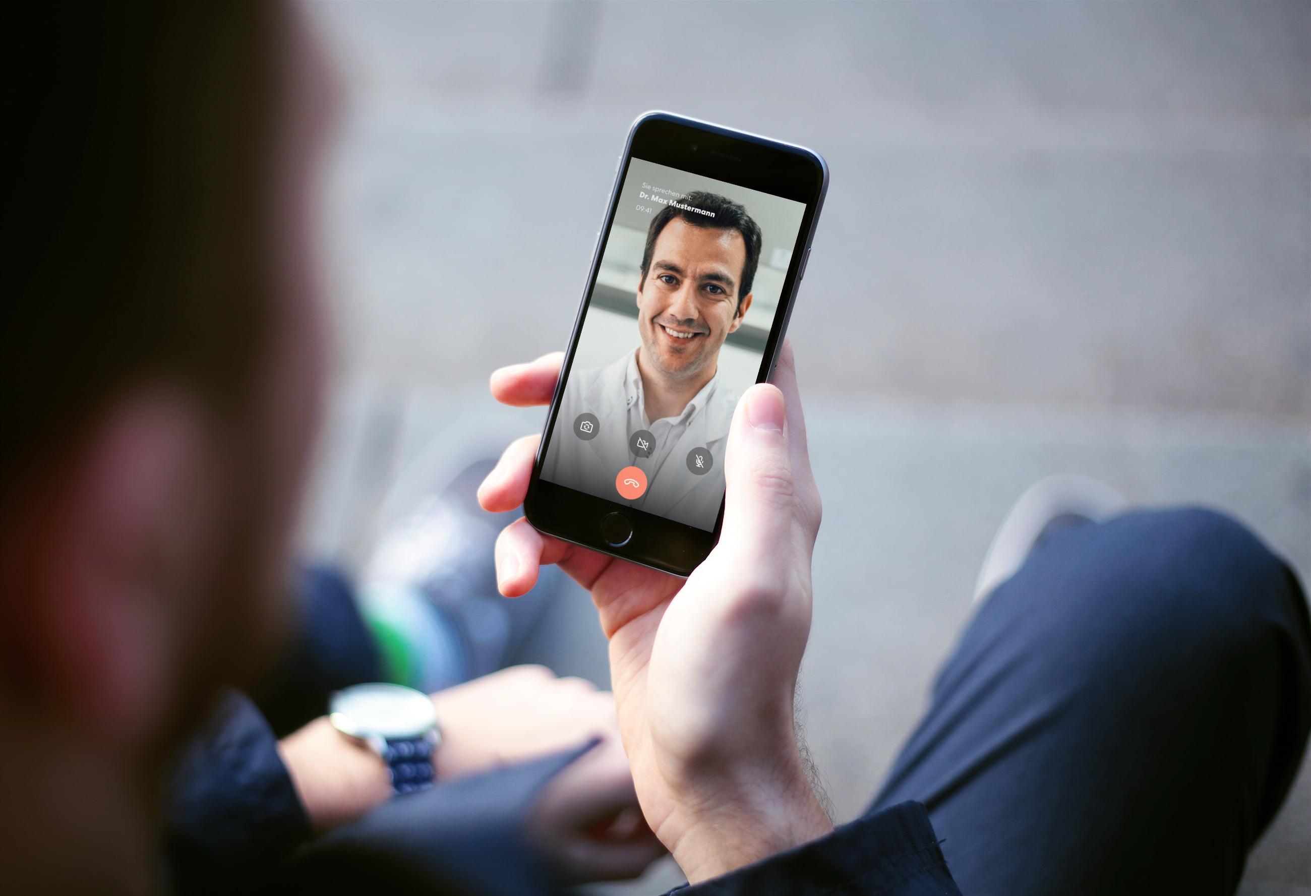 Video doctor consultation with a smartphone